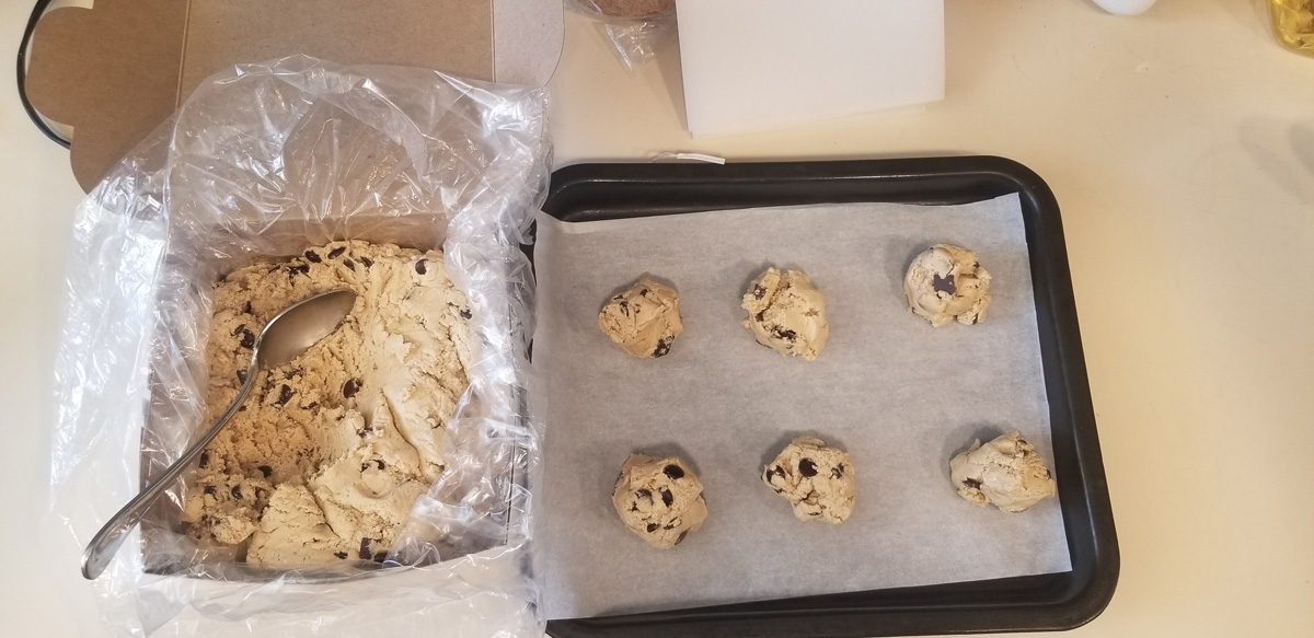 Bake cookies at home